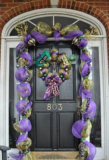 mardi gras door