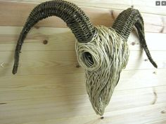 Willow sculptures of animals by Bob Johnston