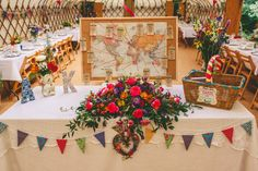Map Travel Seating Table Plan Chart Colourful Fun Garden Yurt Wedding http://mikiphotography.info/