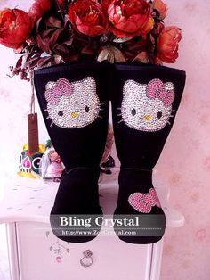 Hello kitty bling boots