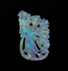 Oriental Opal Carved Lady...