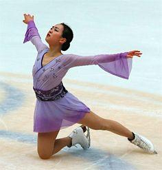 女子フリーで演技を終えた浅田真央=7日、北京 【時事通信社】 (429×450)