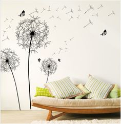 Large dandelion wall vinyl stickers decal