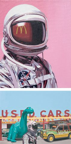 Astronauts & Pop Culture Paintings by Scott Listfield | Inspiration Grid | Design Inspiration