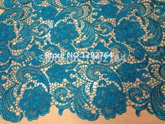 Free shipping! Wholesale price  5 yards High quality   Cupion / Guipure lace fabric 100% cotton with big flower pattern design