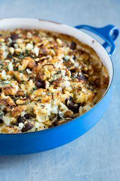 Cauliflower Mushrom Tater Tot Breakfast Casserole