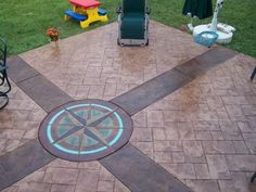 Pros and Cons of Stamping Concrete | Compass design, Concrete ...