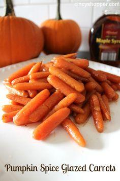 Pumpkin Spice Glazed Carrots