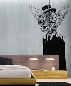 Wrinkly Dog  - Wall Decal Vinyl Decor Art Sticker Removable Mural Modern Animals Kids. $59.99, via Etsy.