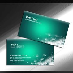 It computer business card network information card psd templates green card psd templates free download card httpweilipic reheart Image collections