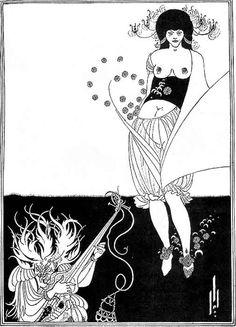 Aubrey Beardsley's illustration for Wilde's Salome