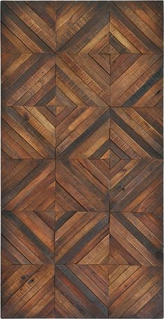 Fine polished veneer in a diamond pattern brings the charm of wood flooring to…
