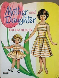 paper dolls certainly remind me of Jackie Kennedy & Caroline!
