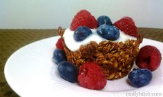 Emily Bites - Weight Watchers Friendly Recipes: Granola Cups with Yogurt.  Tons of recipes and really easy to navigate her website.