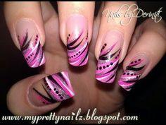 Roze zwart wit