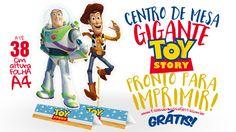 Procurando um display de mesa para sua festa? Encontrou! Baixe grátis o centro de mesa Toy Story e arrase na festa, simples e fácil de montar!