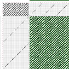 draft image: Figure 419, A Handbook of Weaves by G. H. Oelsner, 24S, 48T