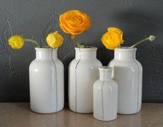 Slip Cast Ceramics Porcelain Bottle-Seam Series, Wide. Taylorceramics