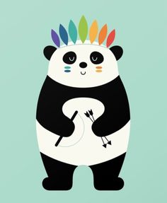 Be Brave Panda | Andy Westface