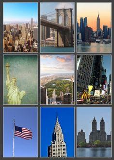 New York Scrapbooking Pack - 9 Sheets of Paper New York Scrapbooking, Chrysler Building, Central Park, Brooklyn Bridge, The Rock, Laser Cutting, Scrapbook Paper, Statue Of Liberty, New York City