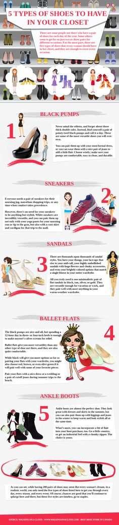 5 Types of Shoes to Have in Your Closet