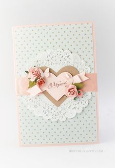 Pretty feminine card. Great for Mother's day
