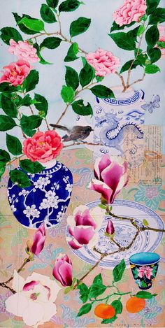 Gabby Malpas Sydney Winter flowers Watercolour, pencil and collage on Arches paper Watercolor Flowers, Watercolor Paintings, Watercolors, Art And Illustration, Illustrations, Arches Paper, Winter Flowers, Still Life Art, Art Floral