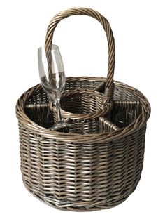 Special Event Basket Wicker Basket Wine Glasses - http://redhamper.co.uk/special-event-basket-wicker-basket-wine-glasses/  #drinksbaskets #shoppingbaskets