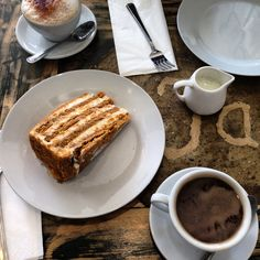 Russian Honey cake and a some coffee