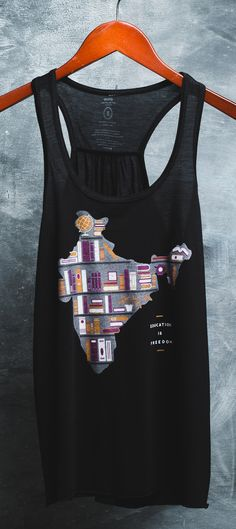 Education is freedom! || Teachers, this one's for you! This cute tank top donates $7 to help build schools in India.