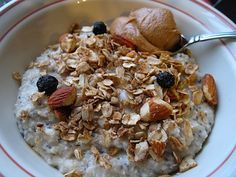 Chia seed oatmeal, looks delicious!