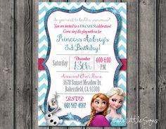 Descargar invitación cumpleaños congelados por CuteLittleSigns