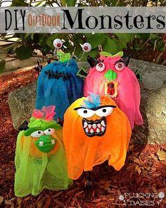 DIY Mod Podge Monsters | Pluckingdaisies.com #HalloweenMP