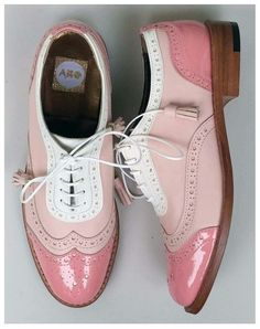 Preppy Pastel Wingtip Oxford Loafers shoes ABO brogues