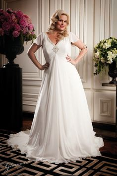 91cd8d1fc4a92 Home > Wonderful Big Wedding Dress for Big Size Women > Glamour-plus-size -long-sleeve-wedding-dress-design-ideas ...