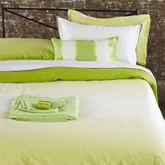 Saraille Lime Bed Linen   Designers Guild