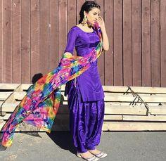 The Fashion of Punjab Indian Suits Punjabi, Punjabi Suit Simple, Simple Indian Suits, Latest Punjabi Suits, Salwar Suits Simple, Indian Fashion Trends, Punjabi Fashion, Fashion In, Indian Designer Outfits