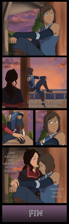 You're So Sweet (Korrasami) by TuAutemCumDeamonia on DeviantArt This is how this scene should have gone.