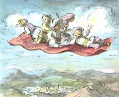 Magic Carpet - EDWARD ARDIZZONE Edward Ardizzone, Children's Picture Books, Magic Carpet, Children's Literature, Children's Book Illustration, Illustrations Posters, Childrens Books, Illustrators, Drawings