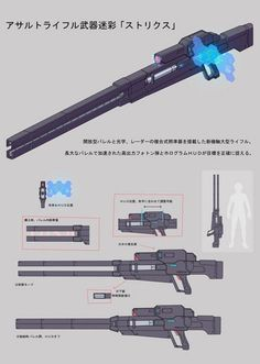 Zeon's Photon Power Buster Railgun Rifles 2 by SolGravionMegazord Cosplay Weapons, Anime Weapons, Sci Fi Weapons, Weapon Concept Art, Weapons Guns, Fantasy Weapons, Rpg Cyberpunk, Guerra Anime, Ninja Sword