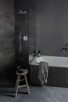 amazing dark bathroom with lovely details - a traveller's Home