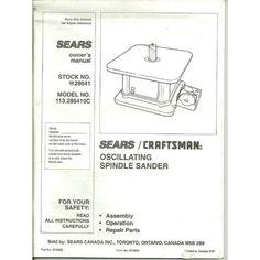 craftsman oscillating spindle sander manual