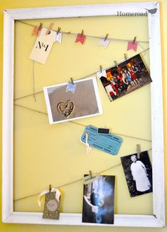 Photo display ideas you can create from repurposed finds. Homeroad.net