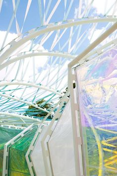2015 Serpentine Gallery Pavilion by SelgasCano. Photograph © NAARO. Image courtesy of Serpentine Galleries.