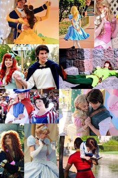Disneyland Characters - Belle, Adam, Alice, Aurora, Ariel, Eric, Peter Pan, Snow White, Prince, Rapunzel, Flynn, Merida, Cinderella, Gaston, & Belle