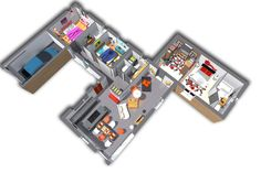 L'intérieur de la Xe évolution + se veut identique au modèle Xe évolution. Spacieux et élégant, il se distingue par son garage acollé aux chambres mais qui n'a pas d'accès.