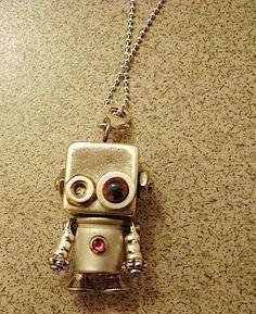 Robot Necklace. $50.00, via Etsy.