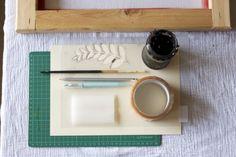 tutorial de serigrafia con plantilla de stencil casero