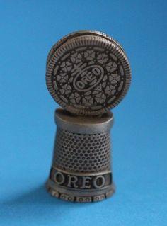 Oreo Cookie Collector Pewter Thimble ~ Rare #babescollectibles