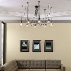 Epaulette Chandelier in Black